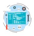 Application development program coding concept vector image