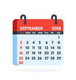 calendar for 2018 year full month of september vector image