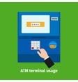 Credit plastic card usage vector image