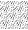 hand drawn seamless pattern with school vector image