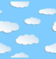 seamless pattern with papercraft clouds vector image