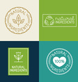 set of design elements and badges for food and vector image