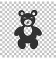 Teddy bear sign Dark gray icon on vector image