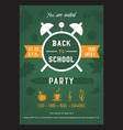 Back to school invitation card vector image