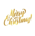 Gold Merry Christmas Card Golden Shiny Glitter vector image vector image