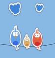 New bird family collage vector image vector image