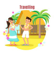 summer tropical beach rest concept vector image