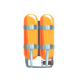 orange oxygen cylinders vector image