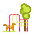 children playground with horizontal bars vector image