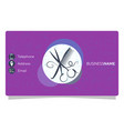 beauty salon business card vector image vector image