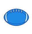 rugby ball line icon vector image vector image