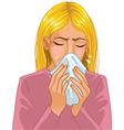 Sneezing woman vector image vector image