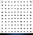100 GRUNGE SPRAYS vector image vector image