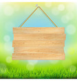 Summer Banner With Grass vector image vector image