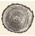 Tree Rings Engraved Annual Saw vector image