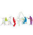jazz band sketch vector image