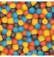 Retro bubbles pattern vector image