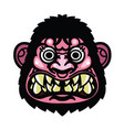 angry monkey head vector image