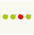 apple set center vector image