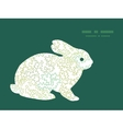 curly doodle shapes bunny rabbit silhouette vector image
