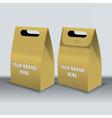 Digital recycle brown paper bags mockup vector image