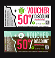 Discount voucher template vector image