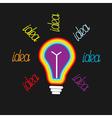 Idea bulb rainbow Flat design vector image
