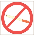 no smoking symbol vector image