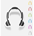 realistic design element headphones vector image