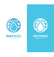 Oil and planet logo combination drop vector image