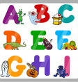 Education Cartoon Alphabet Letters for Kids vector image vector image