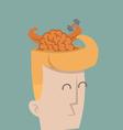 Businessman brain power vector image