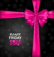 Snowflakes Dark Background for Black Friday Sales vector image vector image