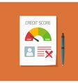 Bad credit score document with not approved stamp vector image