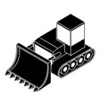 bulldozer icon simple style vector image