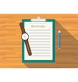 checklist clipboard reminder vector image