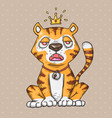cute cartoon tiger cartoon in comic vector image