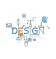 Modern concept of word design vector image