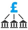 Pound Bank Association Flat Icon Symbol vector image