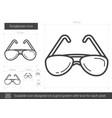 sunglasses line icon vector image