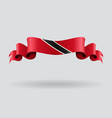 Trinidad and Tobago wavy flag vector image