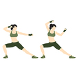 Young woman body combat and fitness vector image