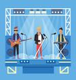 music pop or rock group cartoon vector image