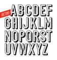 handmade retro dotshadow font black letters on vector image