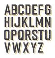 retro alphabet textured vector image vector image