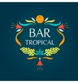 Template logo Tropical bar Oval frame of vector image