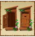 Image set of the rural toilet vector image vector image