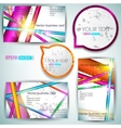 modern business-card set vector image