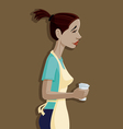 Coffee Shop Girl vector image vector image