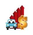 car and money design vector image